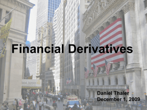 Financial Derivatives - William & Mary Mathematics