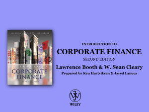 Chapter 1: An Introduction to Corporate Finance