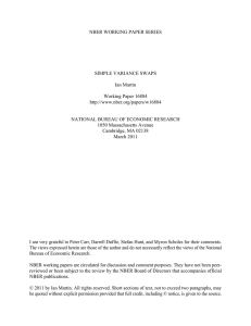 NBER WORKING PAPER SERIES SIMPLE VARIANCE SWAPS Ian Martin Working Paper 16884