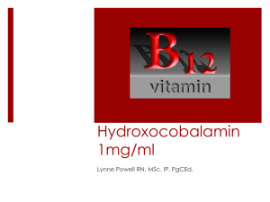 Hydroxocobalamin 1mg/ml