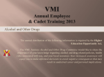 VMI Annual Employee & Cadet Training 2013