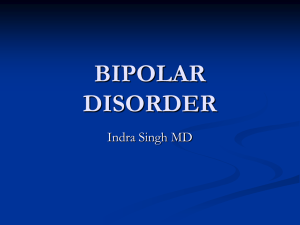 BIPOLAR DISORDER - New York State Academy of Family