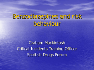 Benzodiazepines and risk behaviour