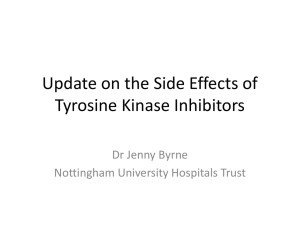 Update on the Side Effects of Tyrosine Kinase Inhibitors