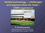 Herbal technology – challenges and opportunities for India