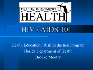 HIV/AIDS 101 - Welcome to the Health Science Program