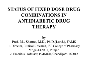 STATUS OF FIXED DOSE DRUG COMBINATION IN ANTIDIABETIC DRUG