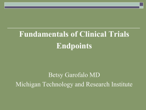 Endpoints in Clinical Trials