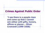 Chapter 12 Crimes Against Public Order
