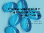Proactive Management of Drug Recalls in Resource Limited
