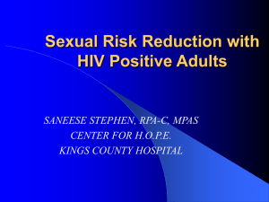 HIV and Safe Sex - Columbia University Medical Center