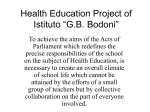 "Health Education Project of Istituto ""G.B. Bodoni"""