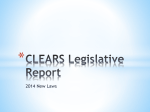 CLEARS Legislative Report