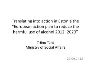 "Translating into action in Estonia the ""European action"