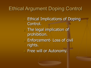 Why should we ban doping? If doping is wrong, WHY is it wrong