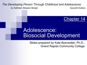 Adolescence: Physical Development