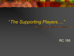 """The Supporting Players…."""