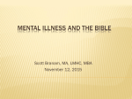 Mental Illiness and the Bible Meadows Conference