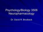 Psychology 2800 Drugs and Behaviour