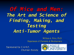Of Mice and Men: The Art and Science of