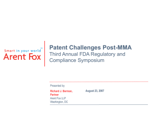 Patent Challenges Post-MMA