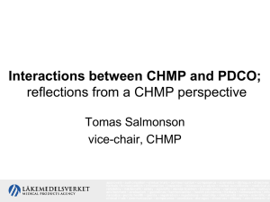 Interactions between CHMP and PDCO