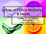 Role of PDA in Medicine & Health - Computer and Information Science