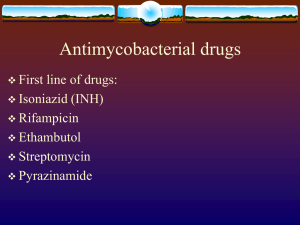 Antimycobacterial drugs