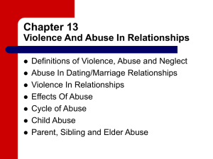 Chapter 13 Violence And Abuse In Relationships