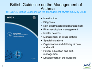 Key slides asthma treatment