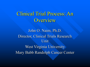 Clinical Trial Process: Overview