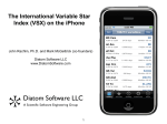 The International Variable Star Index (VSX) on the iPhone