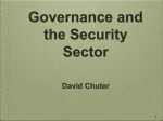 Governance and the Security Sector