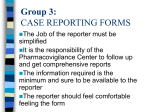 Sample Case Report Forms