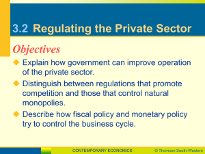 3.2 Regulating the Private Sector