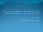 the outcome of traumatic brain injury in phramongkutkloa army