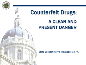 Trends in Counterfeit Drug Cases Number of open FDA Cases