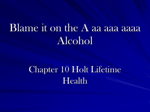 Blame it on the A.aa.aaa. Alcohol