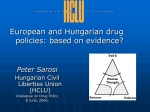 EU drug policies are often contrasted with US drug