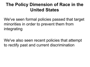 The Policy Dimension of Race in the United States