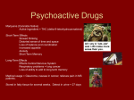 Psychoactive Drugs - Hinsdale Central High School