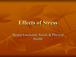 Effects of Stress - Hinsdale Central High School