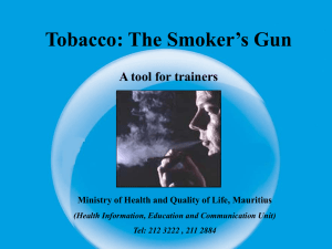 Constituents of Tobacco Smoke