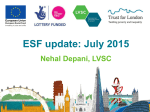 LVSC presentation: update on the ESF programme in