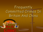 Frequently Committed Crimes In Britain And China谢芸616