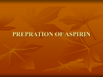 PREPRATION OF ASPIRIN