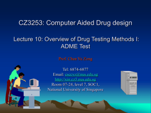 Overview of Drug Testing Methods I: ADME - BIDD