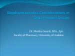 Biopharmaceutics Considerations in Drug Product