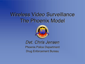 Wireless Video Surveillance The Phoenix Model