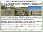 Land Reclamation Summer Research Assistants